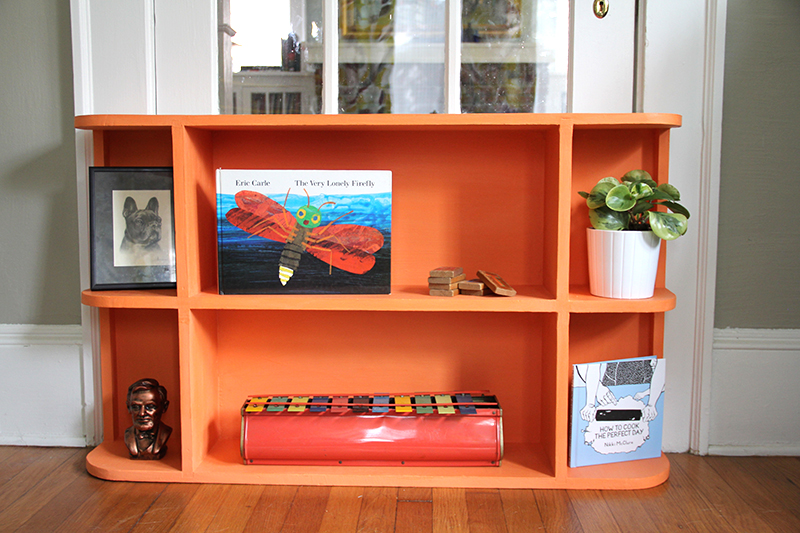 orange-bookcase - Good Things Come In Small, Bright Colored Packages: New Bookcase