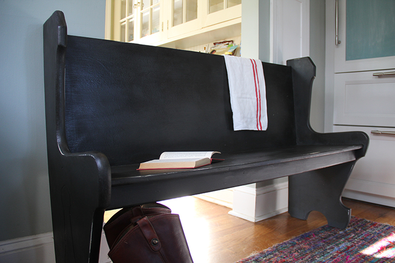 antique-black-bench