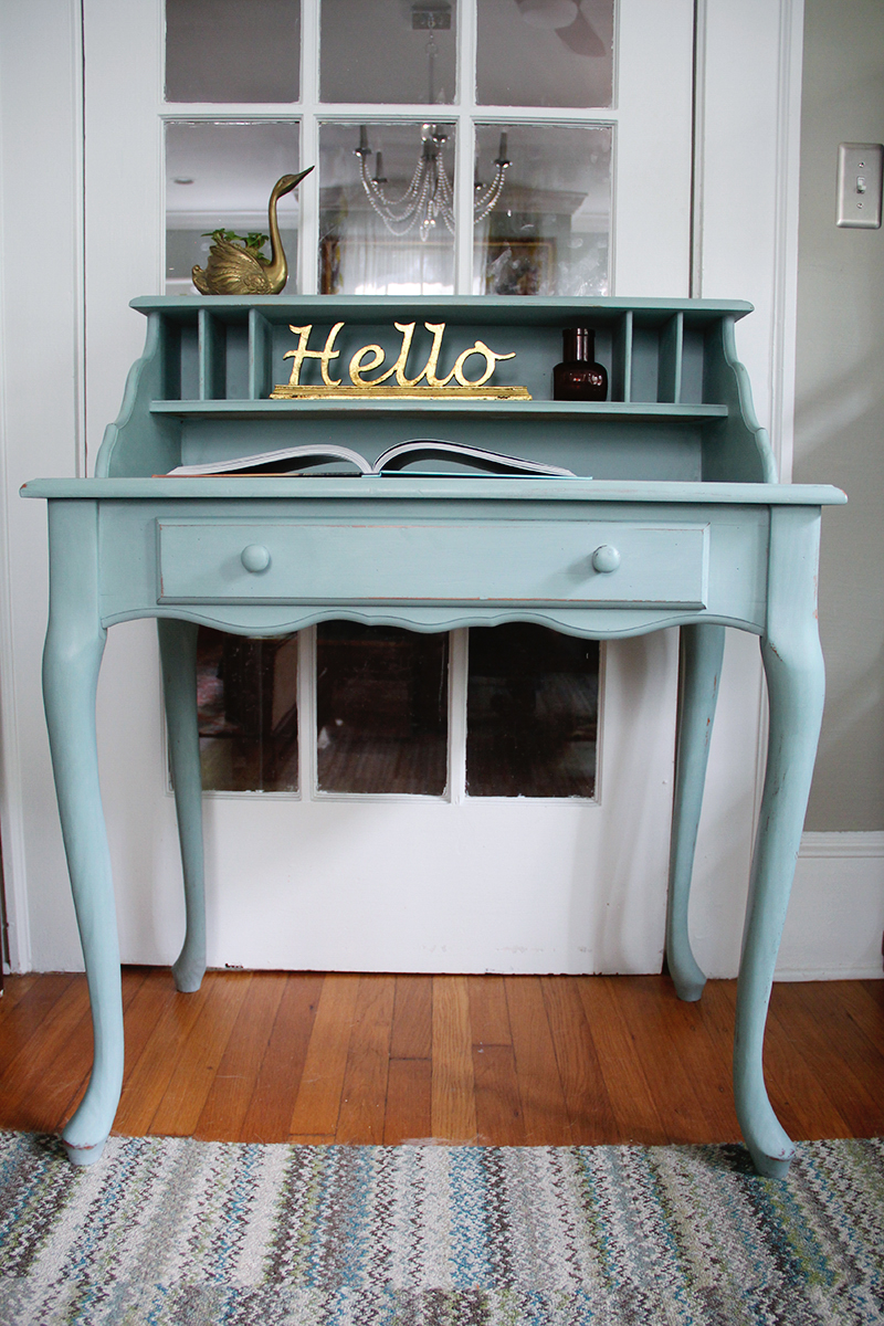 Spring Colors Duck Egg Blue Desk A Simpler Design a hub for
