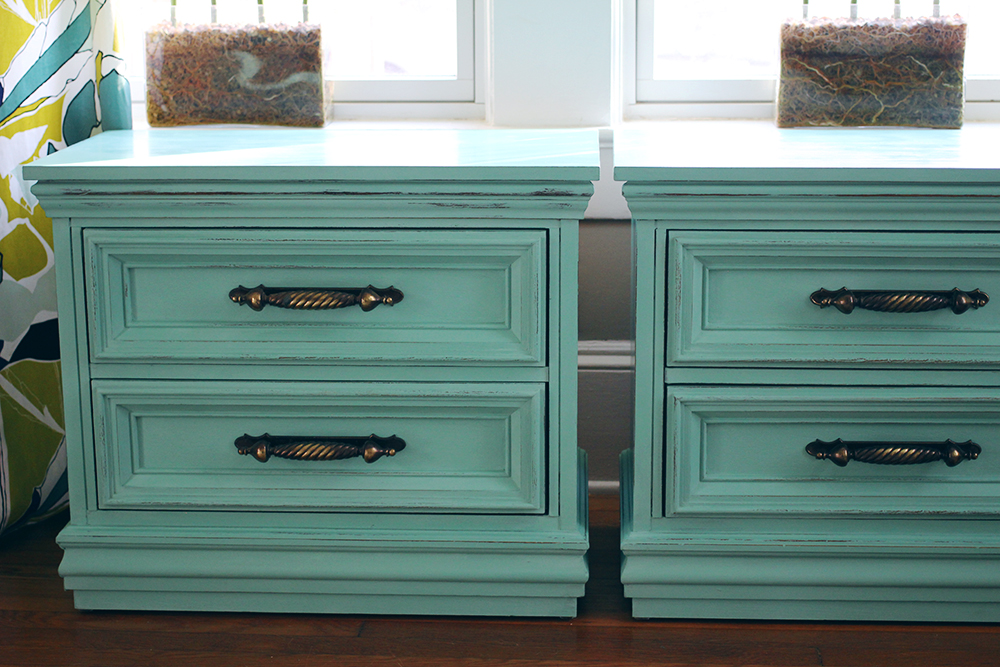 All is Bright: Turquoise Nightstands — A Simpler Design: a hub for ...