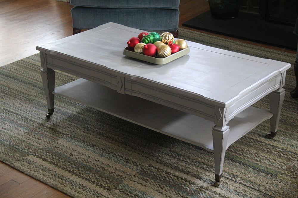 Paris gray tables a sneak peek at our winter wonderland for Paris coffee table