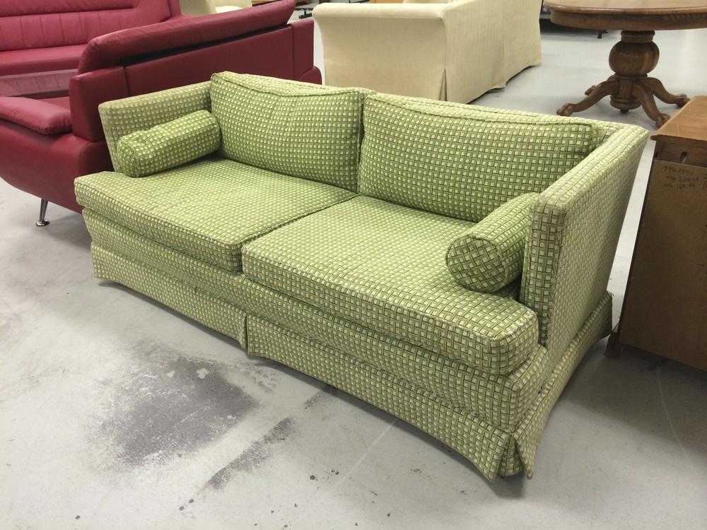 But What Sold Me Was The Unique Color And Pattern On The Sofa. Iu0027ve Never  Seen A Green And Chartreuse Sofa In A Needlepoint Fabric!