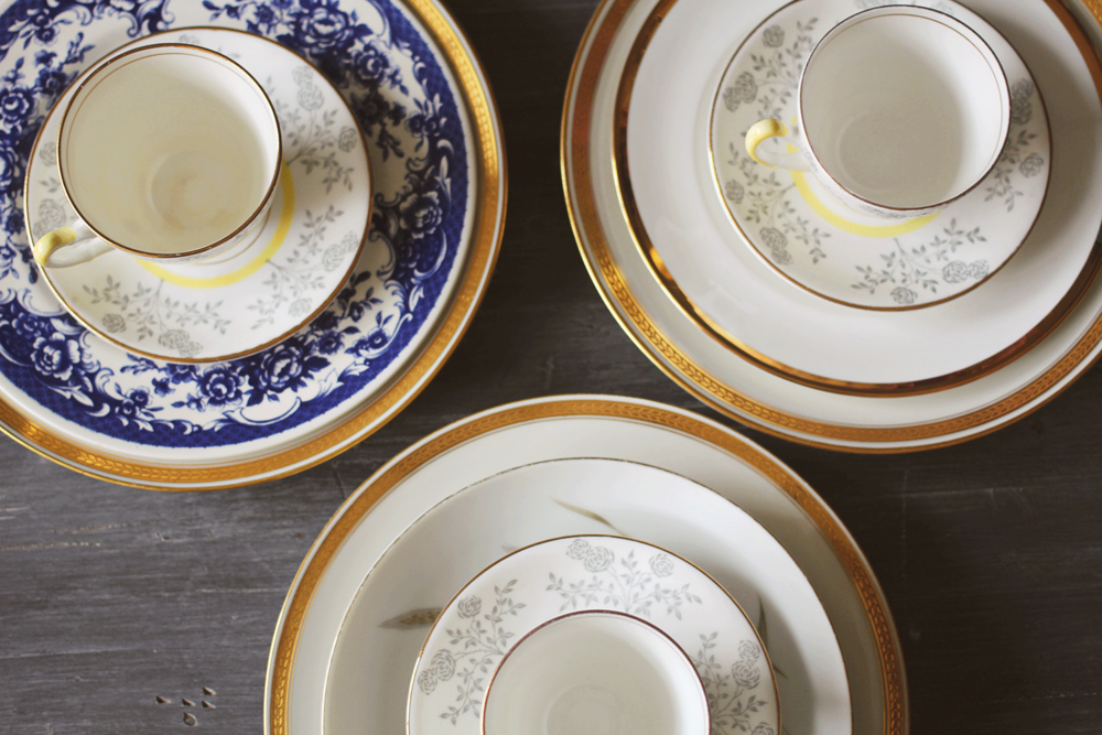 I recently picked up a few different sets of vintage dinnerware for some styling fun. & Vintage Dinnerware: Mixing Color and Pattern u2014 A Simpler Design: a ...