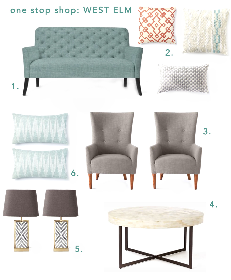 One Stop Shop: West Elm Inspiration for a Formal Living Room — A ...