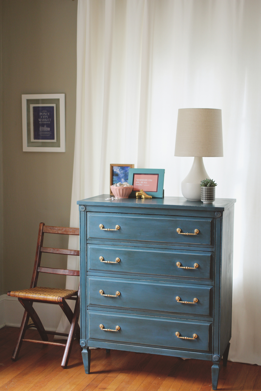 Annie Sloan Colors I Love Aubusson Blue Dresser A