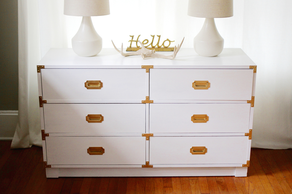 Restoring A Classic C aign Dresser In Pure White And Gold on annie sloan painted furniture with paint