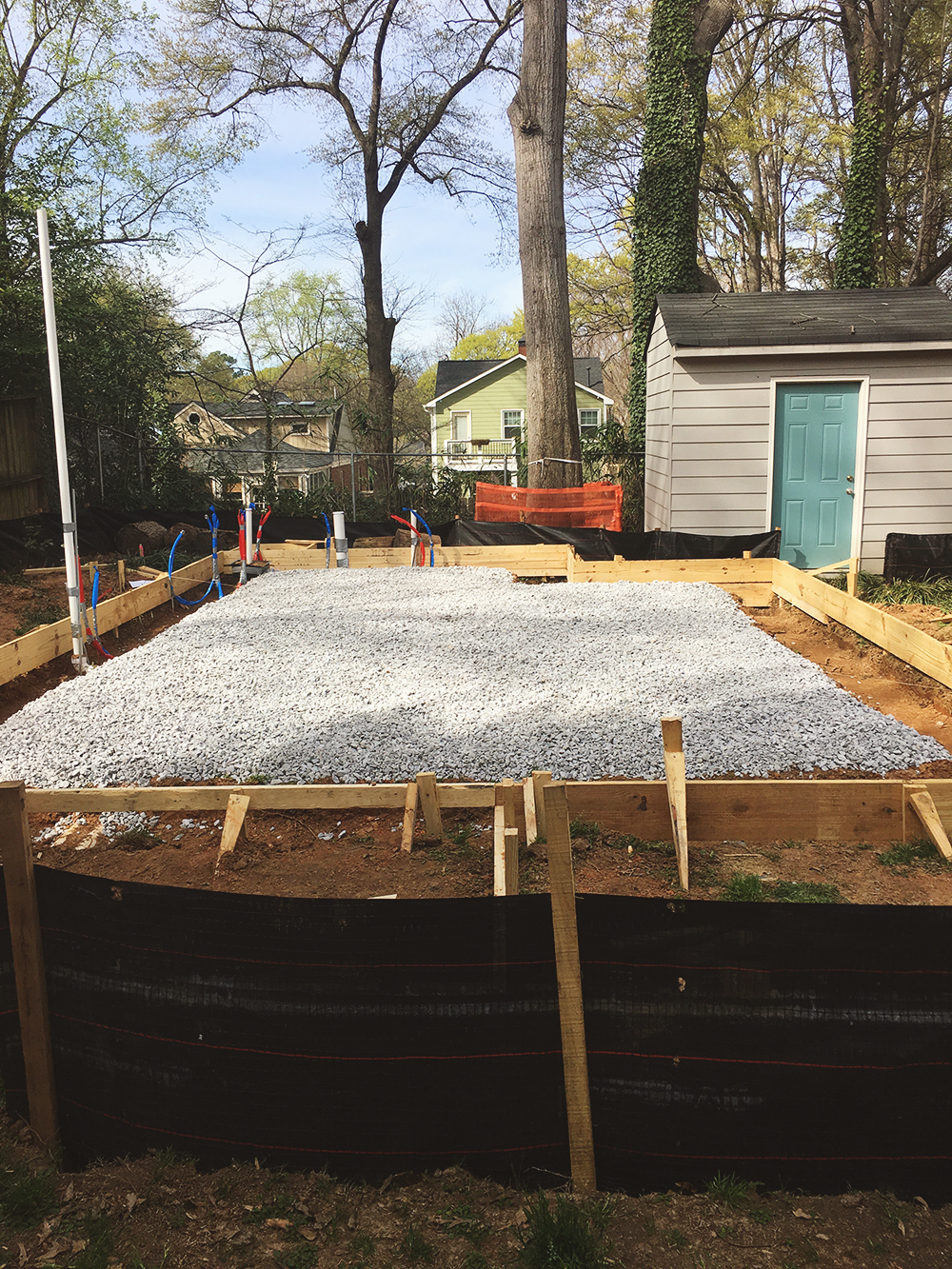 Building a backyard studio from a gravel pit to a tiny for Building a studio in the backyard