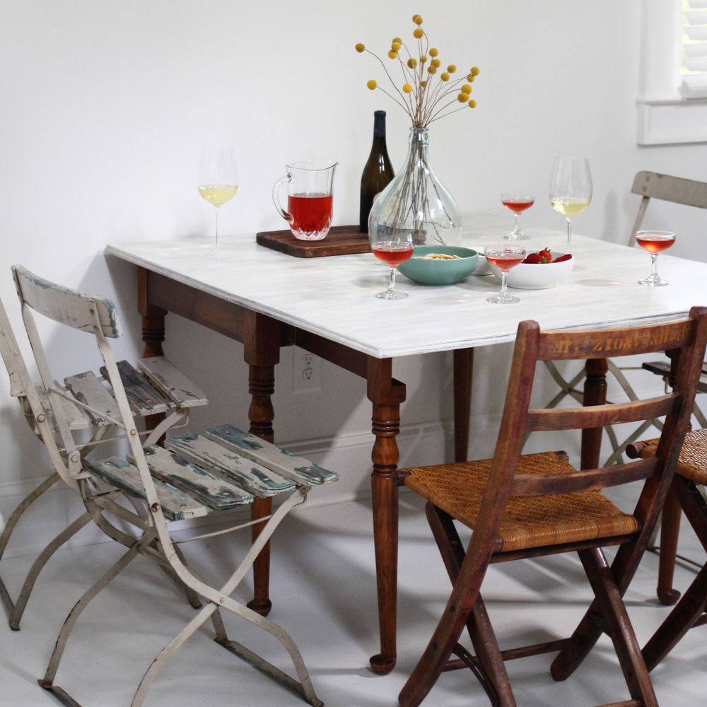 Before and after dining table to desk with a wall organizer a unless im planning for a big get together or a large class i really have no need for using all the leaves on the table to show you how much table i geotapseo Choice Image