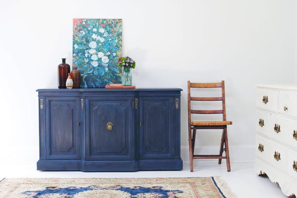 Regal In Blue Pairing Annie Sloan S Black Wax With