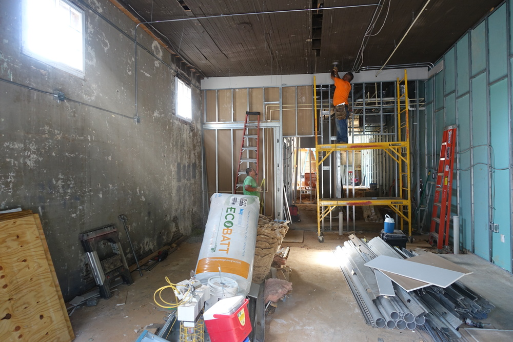 The construction process has been slow, but renovation is underway!