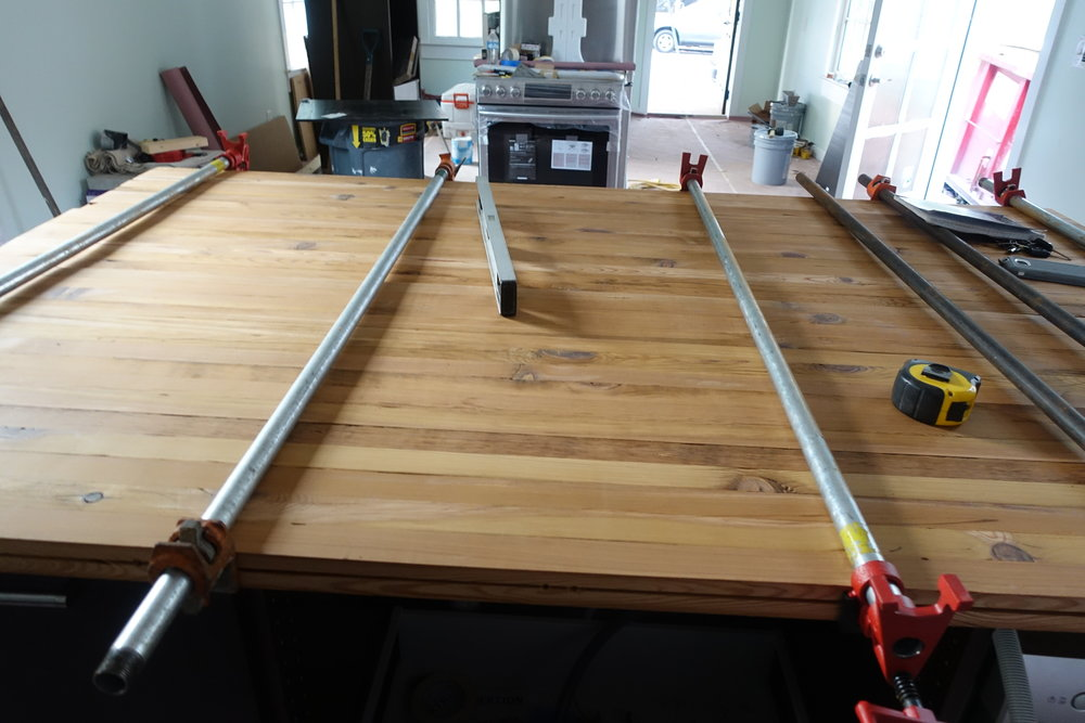 We also used the old ceiling joists in several other details throughout this shotgun house restoration