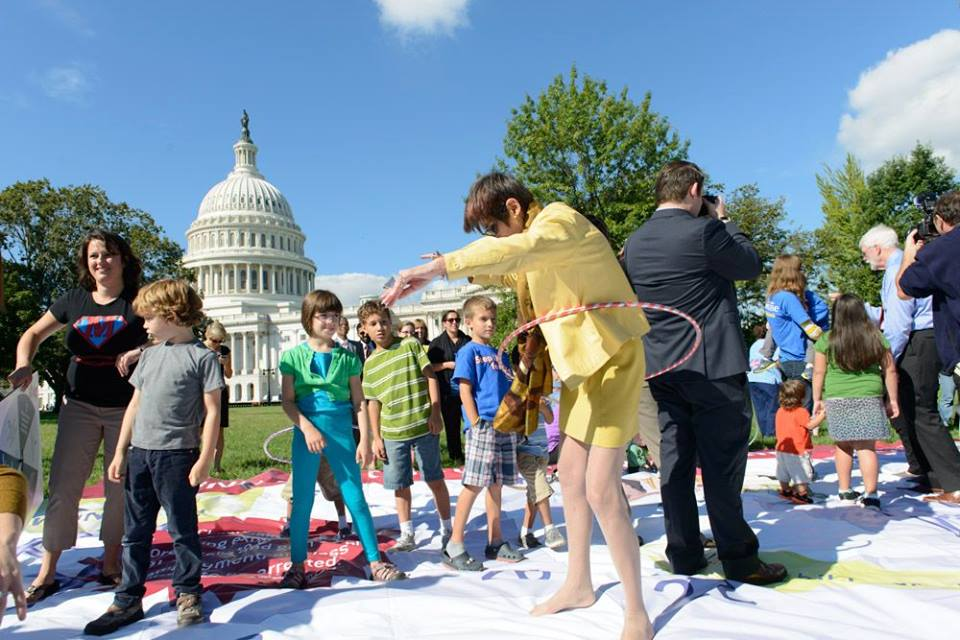Representative Rosa DeLauro at Chutes and Ladders for Early Learning at the U.S. Capitol Building; Photo taken by Jeffrey Martin,  www.photosbyjeffrey.com