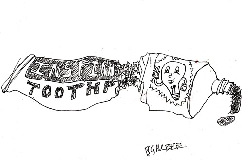 """Inspirational Toothpaste"" by Brendan Garbee"