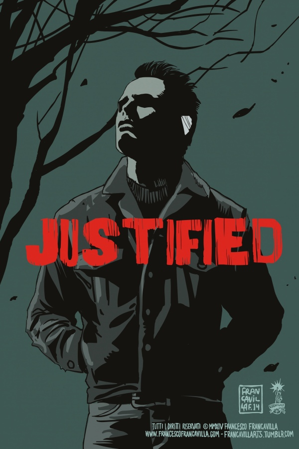 boyd!     francavillarts :      ~~ BOYD CROWDER ~~     JUSTIFIED Poster Art by Francesco Francavilla     After another great episode of  JUSTIFIED  on  FX  last night, I had to draw our favorite bad boy  BOYD , definitely as part of the success of the show as  Raylan Givens .   Cheers, FF