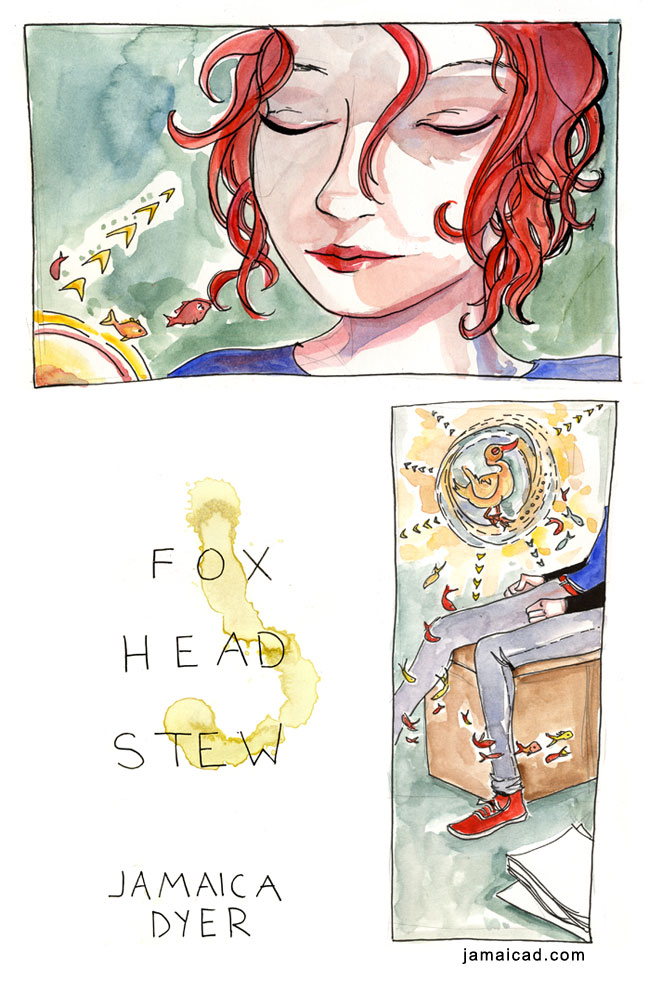 ladiesmakingcomics: Jamaica Dyer has posted a preview of her graphic-novel-in progress, Fox Head Stew, and it's beautiful.