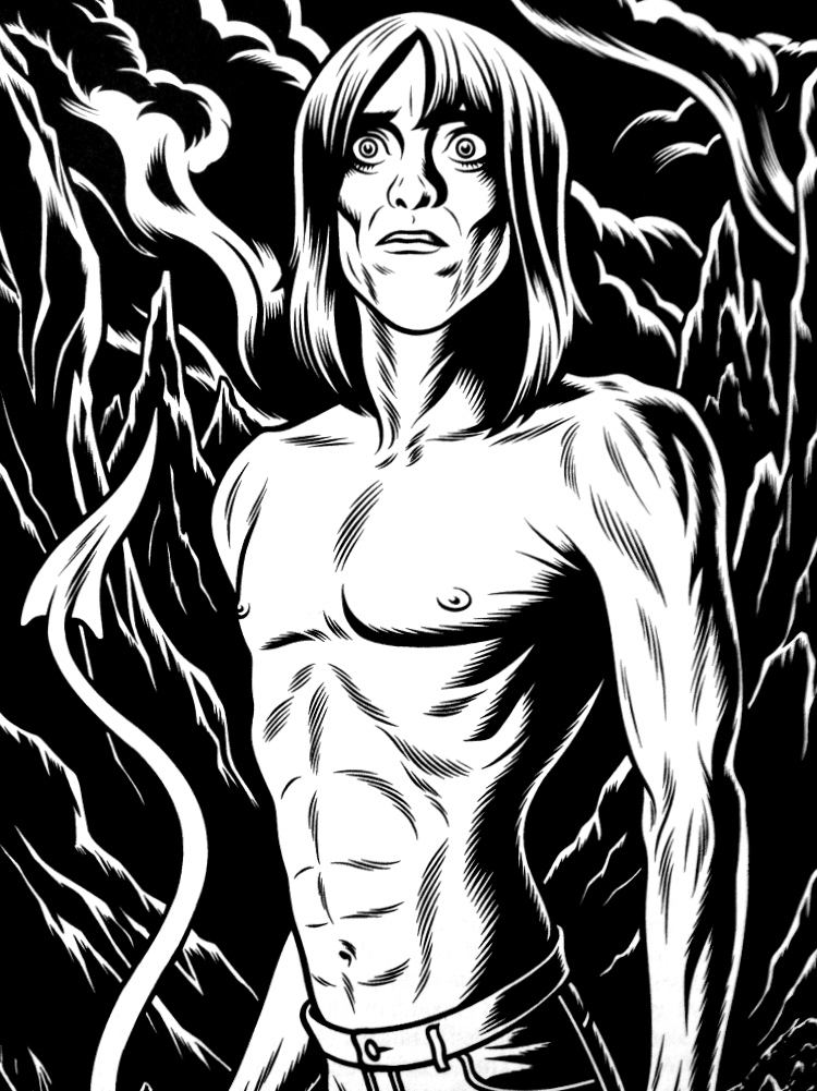 Charles Burns does Iggy Pop.    mrelephant :      nevver :     Iggy,  Charles Burns      Yes!