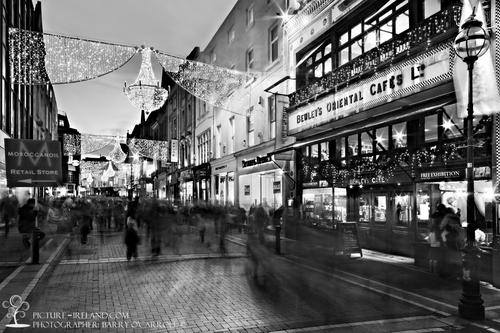 Dublin Night Lights Christmas Lights at Night