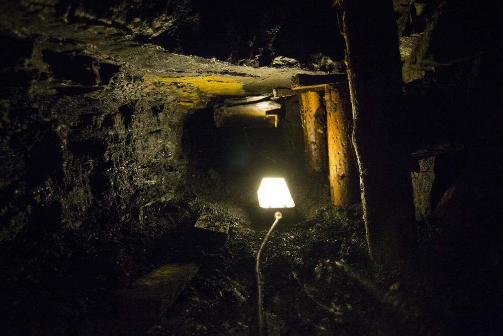 Coal Vein at Arigna Cave.