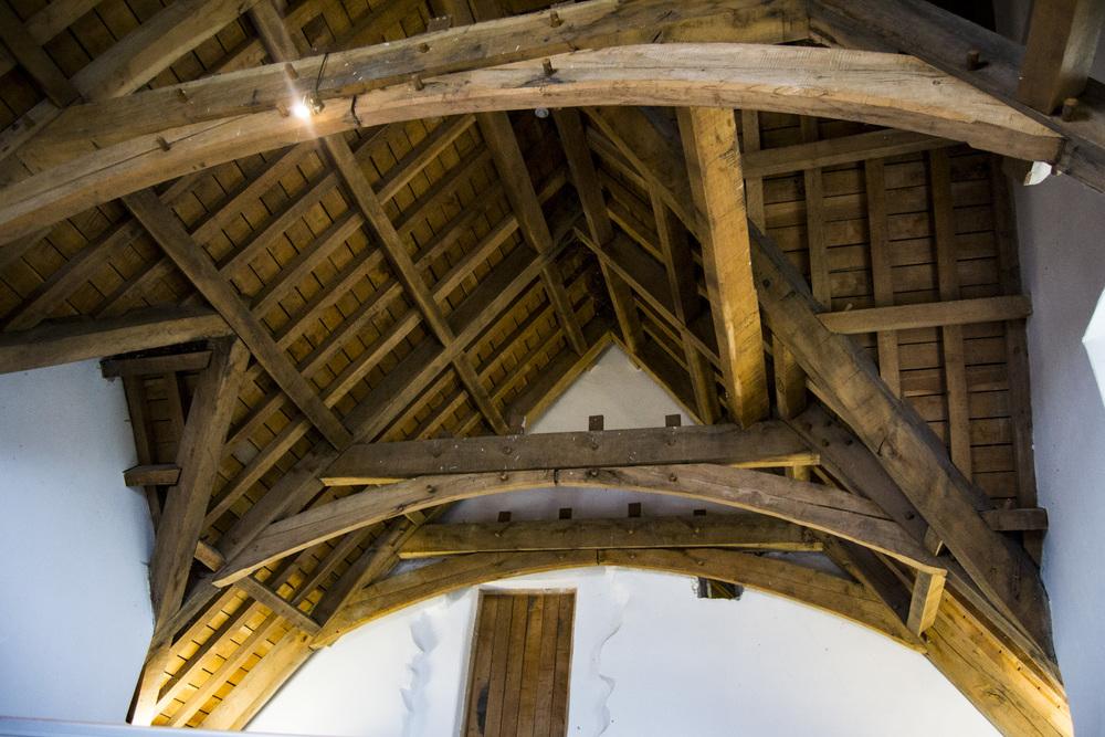 Roof restoration using Irish Oak
