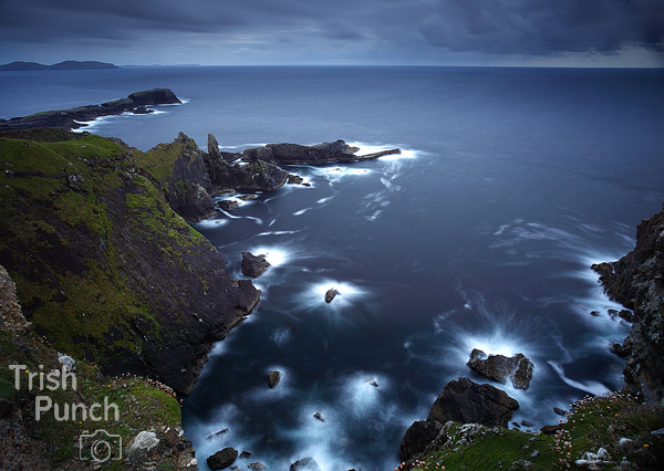 Cliffs on Clare island on the Wild Atlantic Way in Mayo in Ireland.