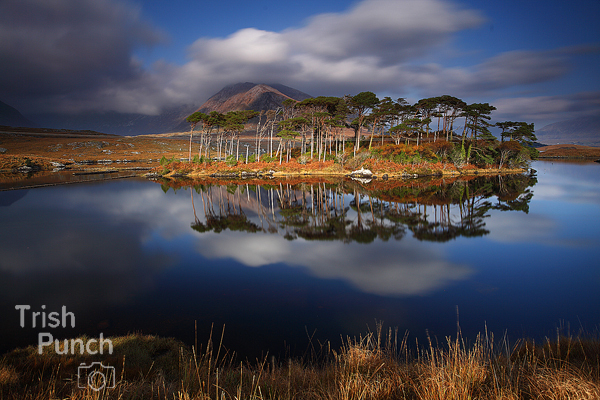 Derryclare lough in Connemara region of Galway in Ireland.