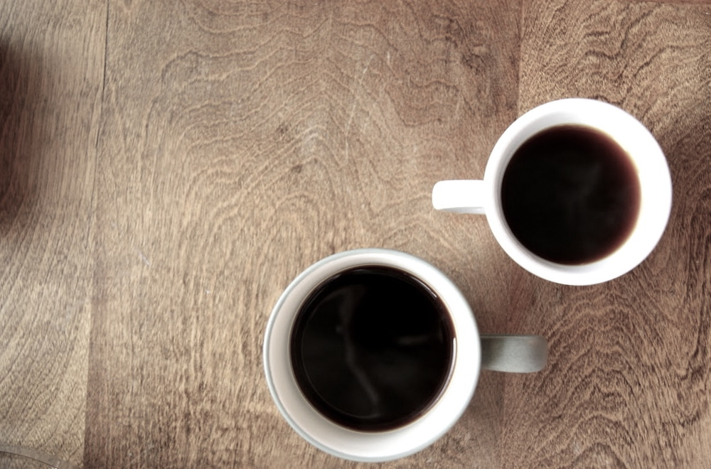 delicious, fresh brewed coffee