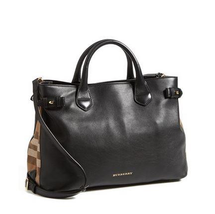 f5435cf1d4d5 Burberry   Medium Banner  House Check Leather Tote — ArmGem - Rent Designer  Handbags Online