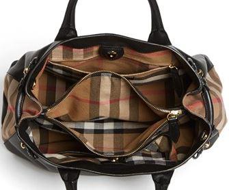 e0edff7d46d8 Burberry   Medium Banner  House Check Leather Tote — ArmGem - Rent ...