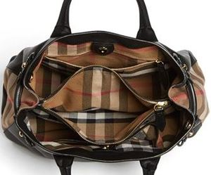 d96a89a4c6 Burberry: 'Medium Banner' House Check Leather Tote — ArmGem - Rent ...