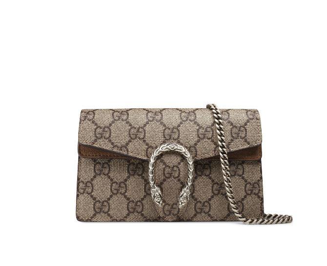 2140f2bbc3c Gucci  Dionysus GG Supreme Super Mini Bag — ArmGem - Rent Designer Handbags  Online