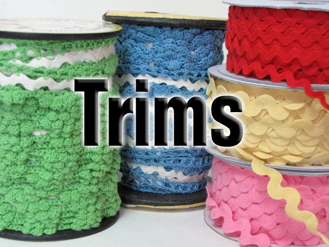 Rick Rack and trims great for embellishing clothing to home decor.