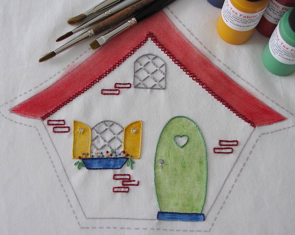 Embroider, then heat set