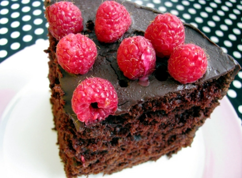 raspberry chocolate mocha cake