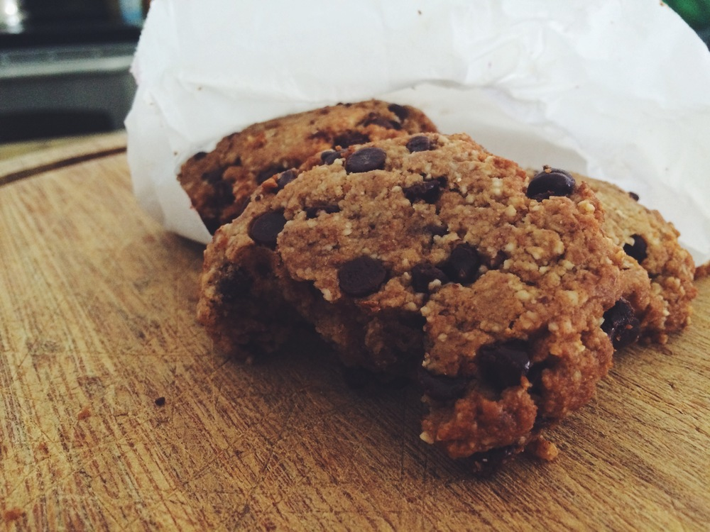 vegan coconut chocolate cookie