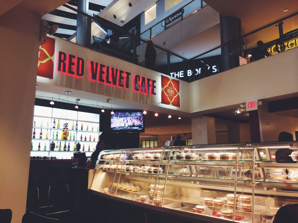 red velvet cafe - fashion show mall, las vegas strip