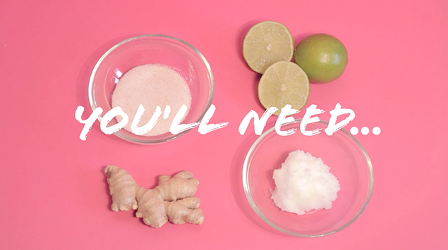 DIY: ginger lime body scrub | RECIPE on hotforfoodblog.com