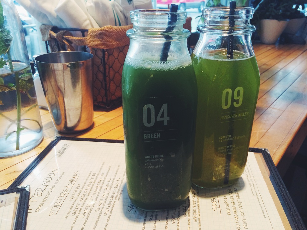 hangover killer & goddess of green juices