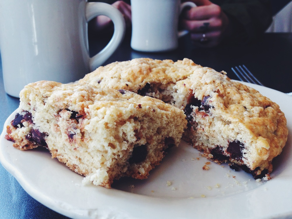 chocolate chip scone