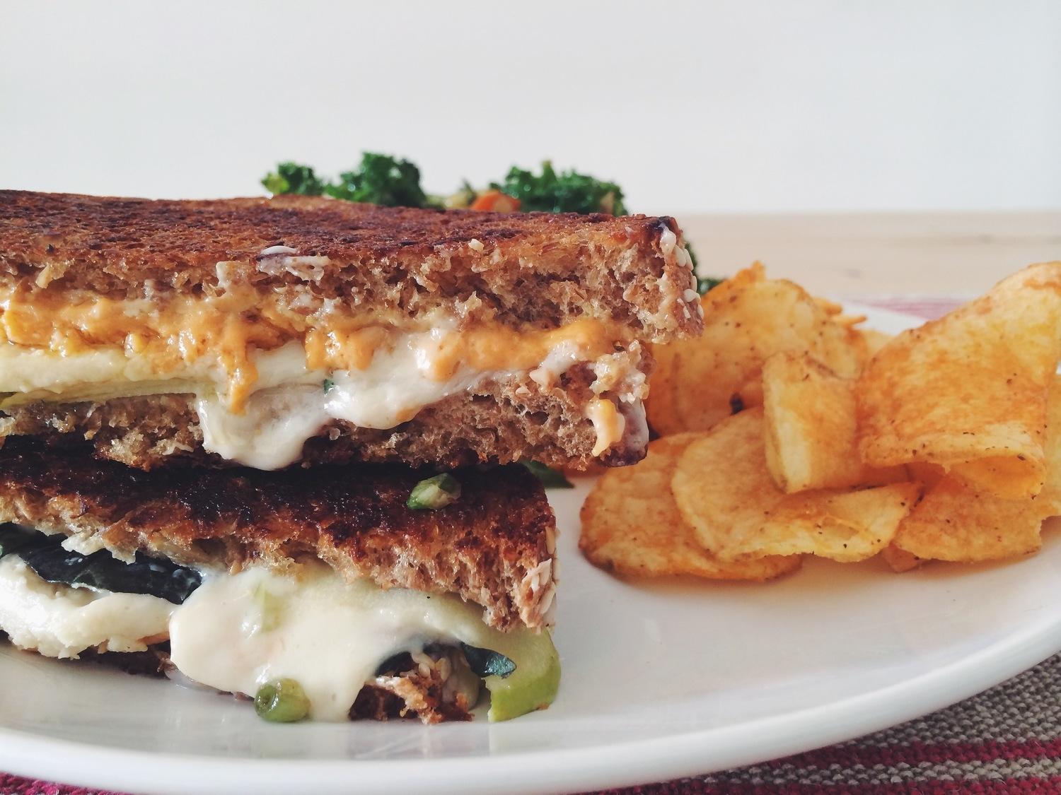 vegan jack & cheddar grilled cheese_hot for food