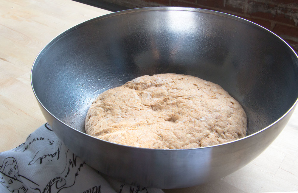 risen pizza dough | RECIPE on hotforfoodblog.com
