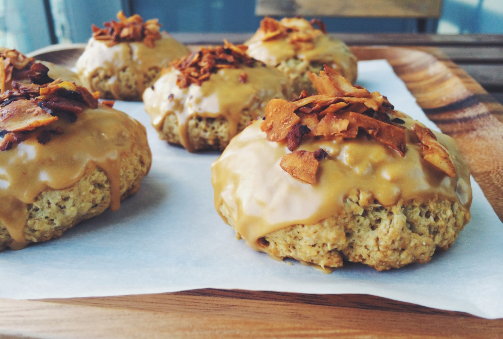 maple bacon oat scones | RECIPE on hotforfoodblog.com