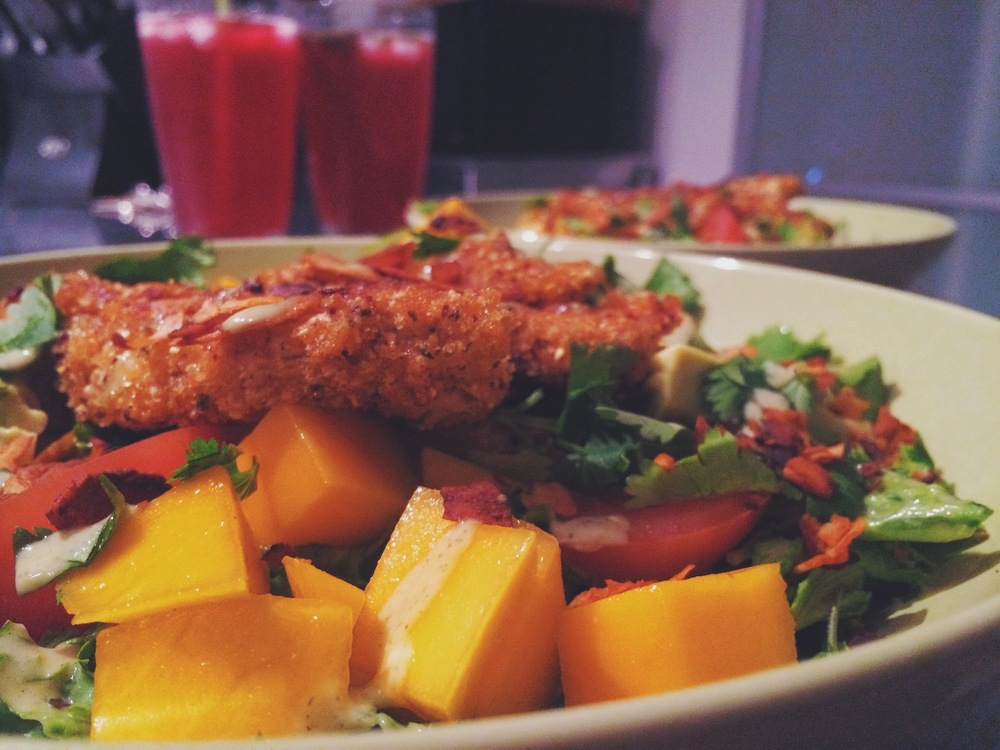 mango chik'n salad_hot for food