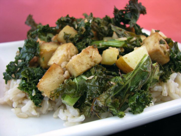 krispy kale tofu | RECIPE on hotforfoodblog.com
