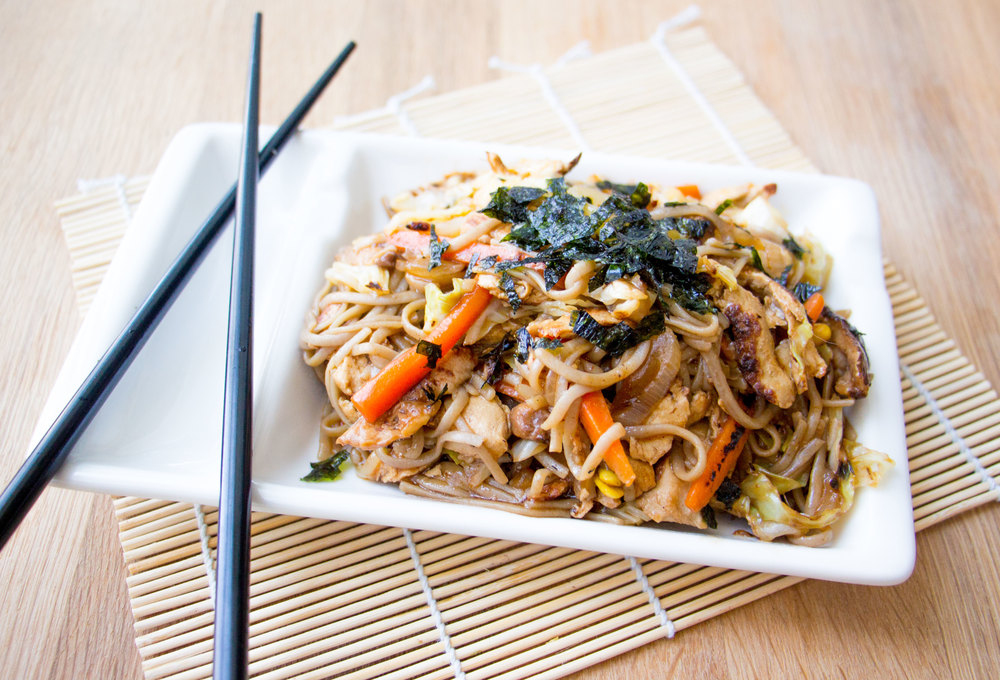 vegan yakisoba | RECIPE on hotforfoodblog.com