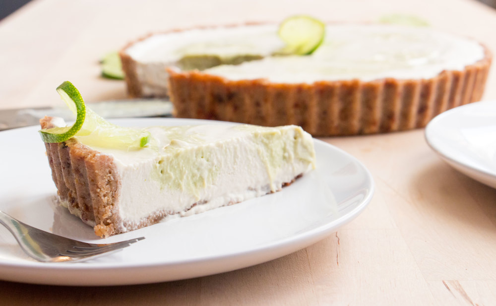 vegan coconut key lime pie | RECIPE on hotforfoodblog.com