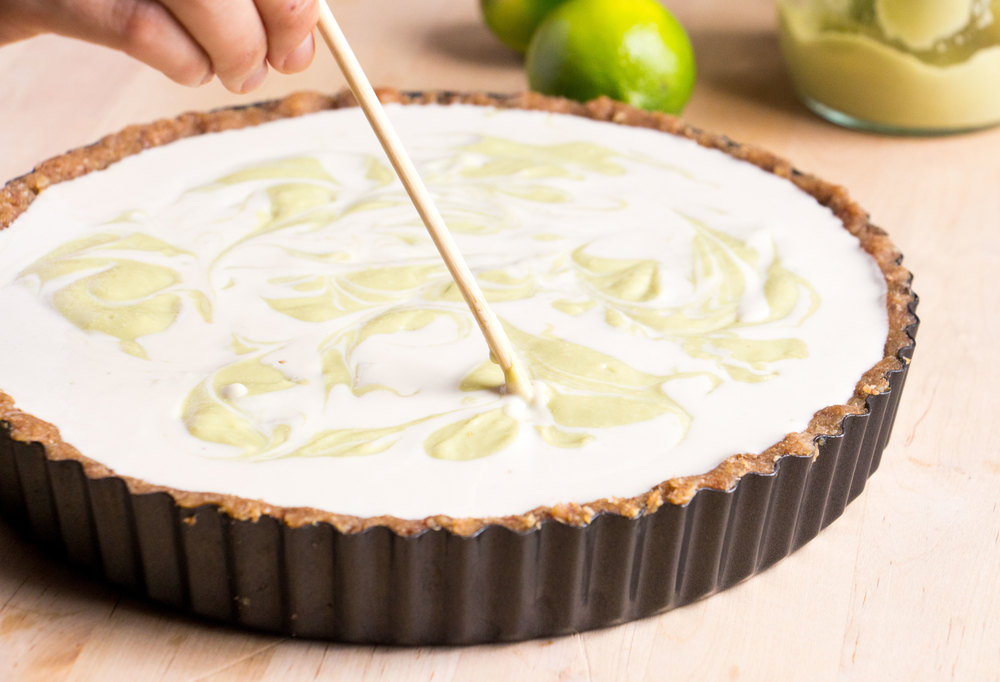 how to make vegan coconut key lime pie | RECIPE on hotforfoodblog.com