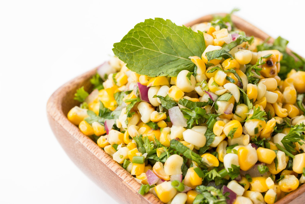 roasted corn salad with fresh herbs #vegan #glutenfree | RECIPE on hotforfoodblog.com