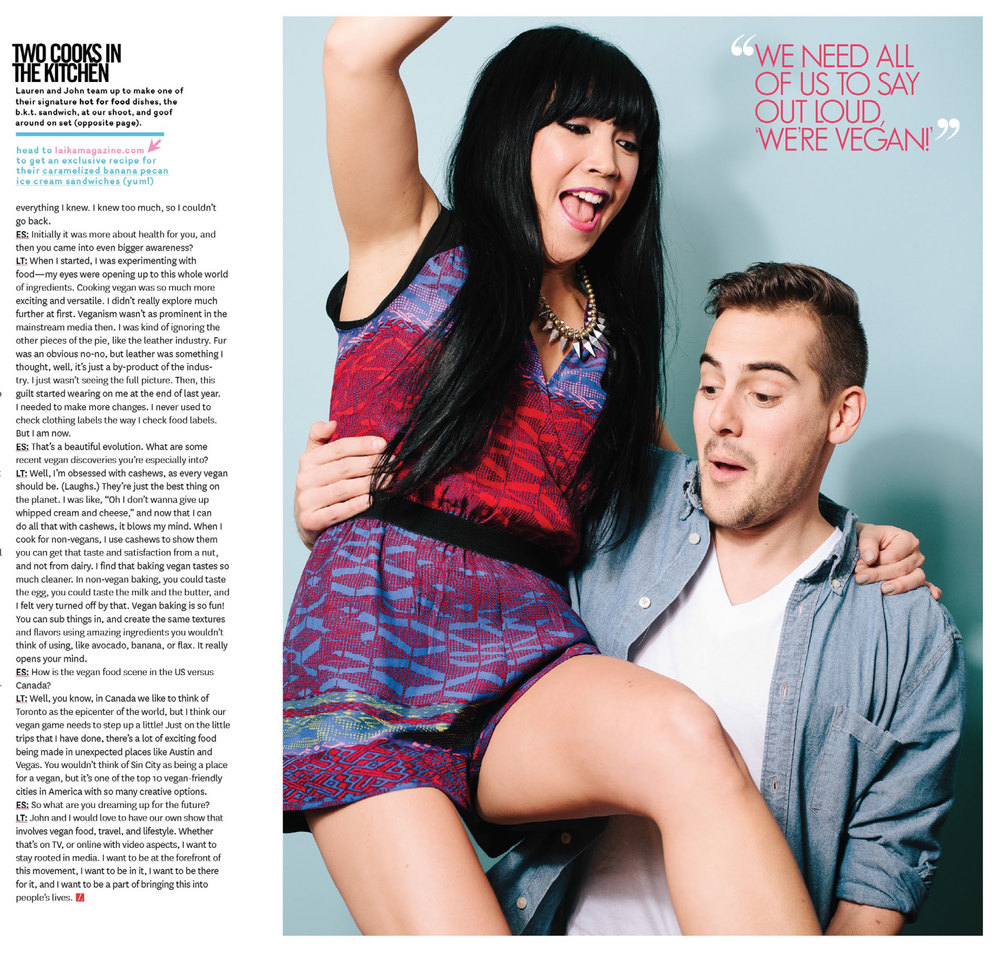 Lauren & John of hot for food blog featured in Laika Magazine
