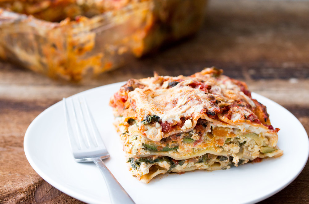 vegan lasagna | RECIPE on hotforfoodblog.com