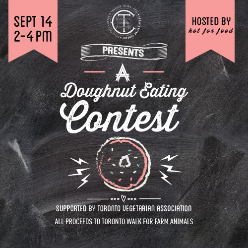 Through Being Cool Vegan Baking Co. presents a doughnut eating contest
